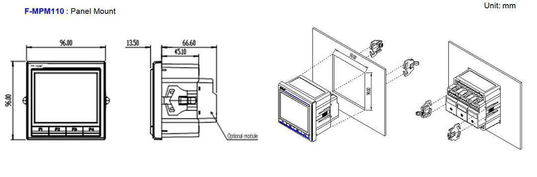 Multifunction Power Meter F-MPM110