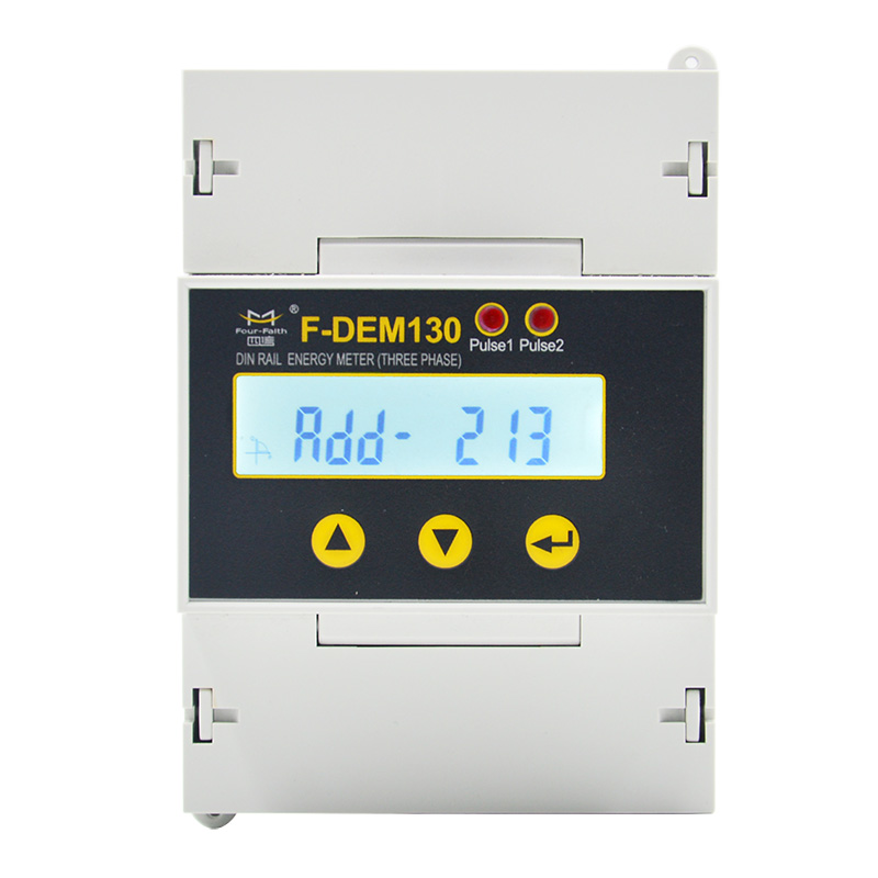 F-DEM130 Din Rail Three Phase Energy Meter-2
