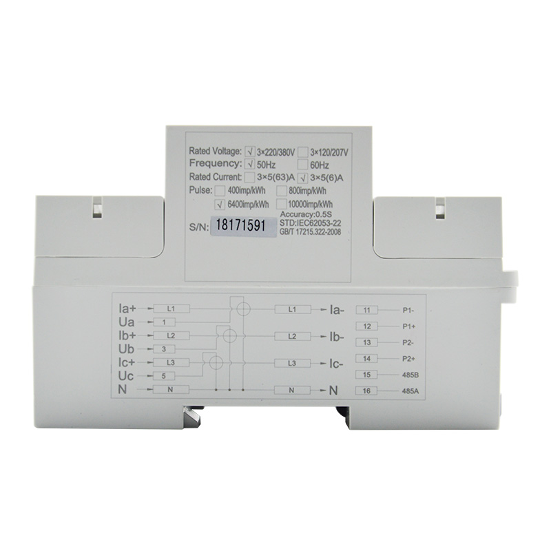 F-DEM130 Din Rail Three Phase Energy Meter-4